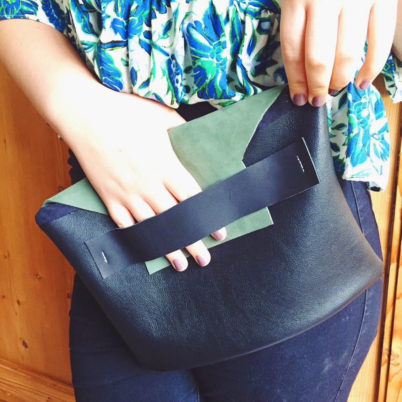 handmade clutch leather fashion design uk
