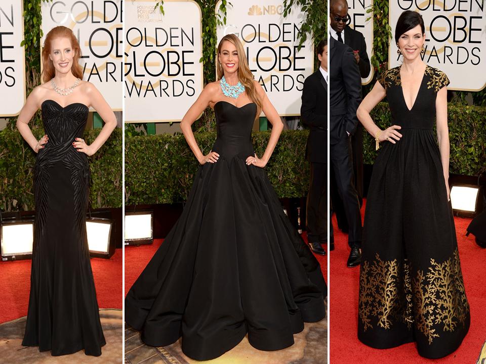 Jessica Chastain, Sofía Vergara y Julianna Margulies Globos de Oro 2014