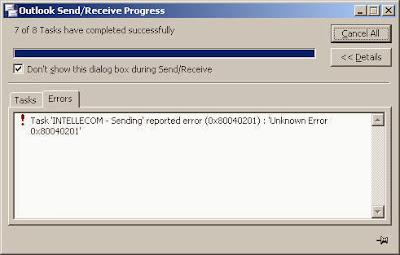 Unknown Error 0x80040201