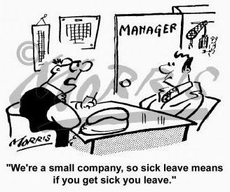 Sick Leave Very Funny Humor Cartoon