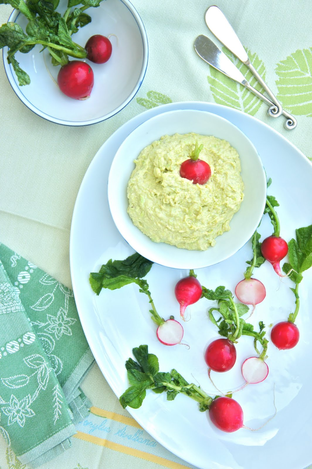 Thyme: Fava Bean and Goat Cheese Dip with Radishes