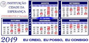 DIAS DE ATENDIMENTO 2019