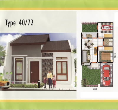 Desain Dan Denah Rumah Type 40/72