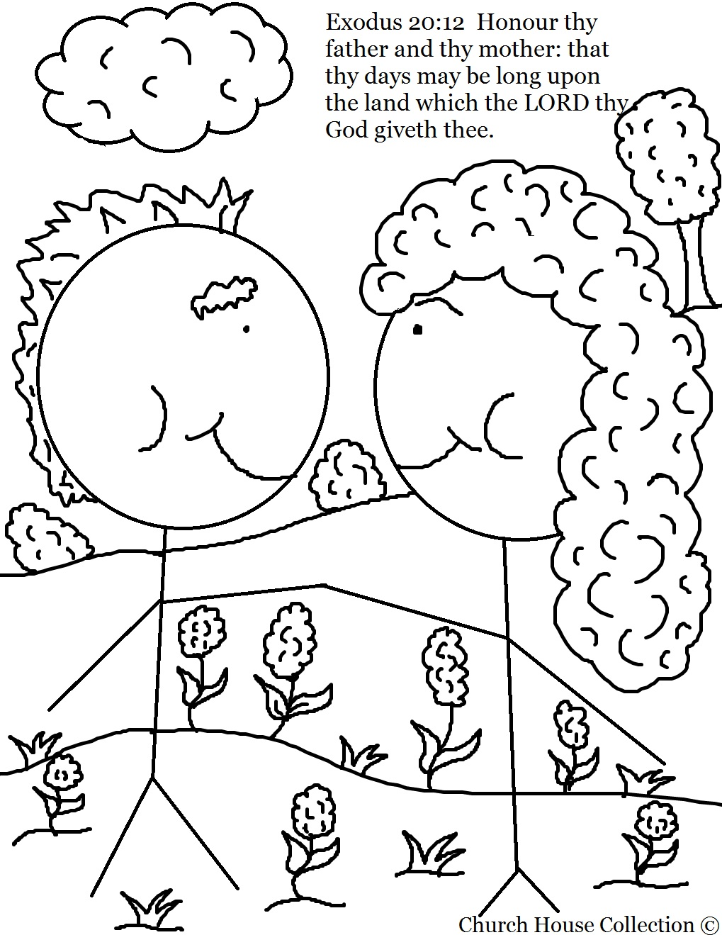 Church house collection blog honor your mother and father for Mom and dad coloring pages