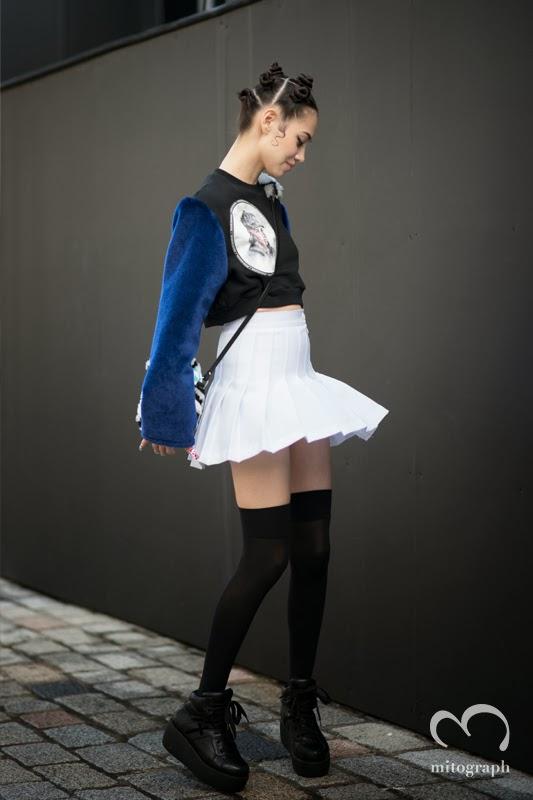 モデル水原希子のロンドンファッションウィークでのストリートスナップ