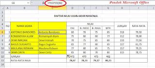 data dengan rumus excel proper