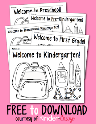 FREE coloring pages for back to school
