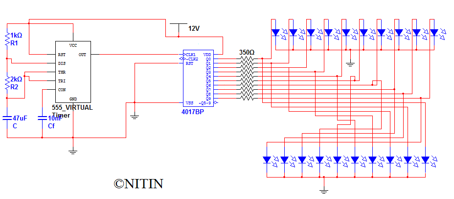 Knight Rider Light Circuit Trusted Schematic Diagrams