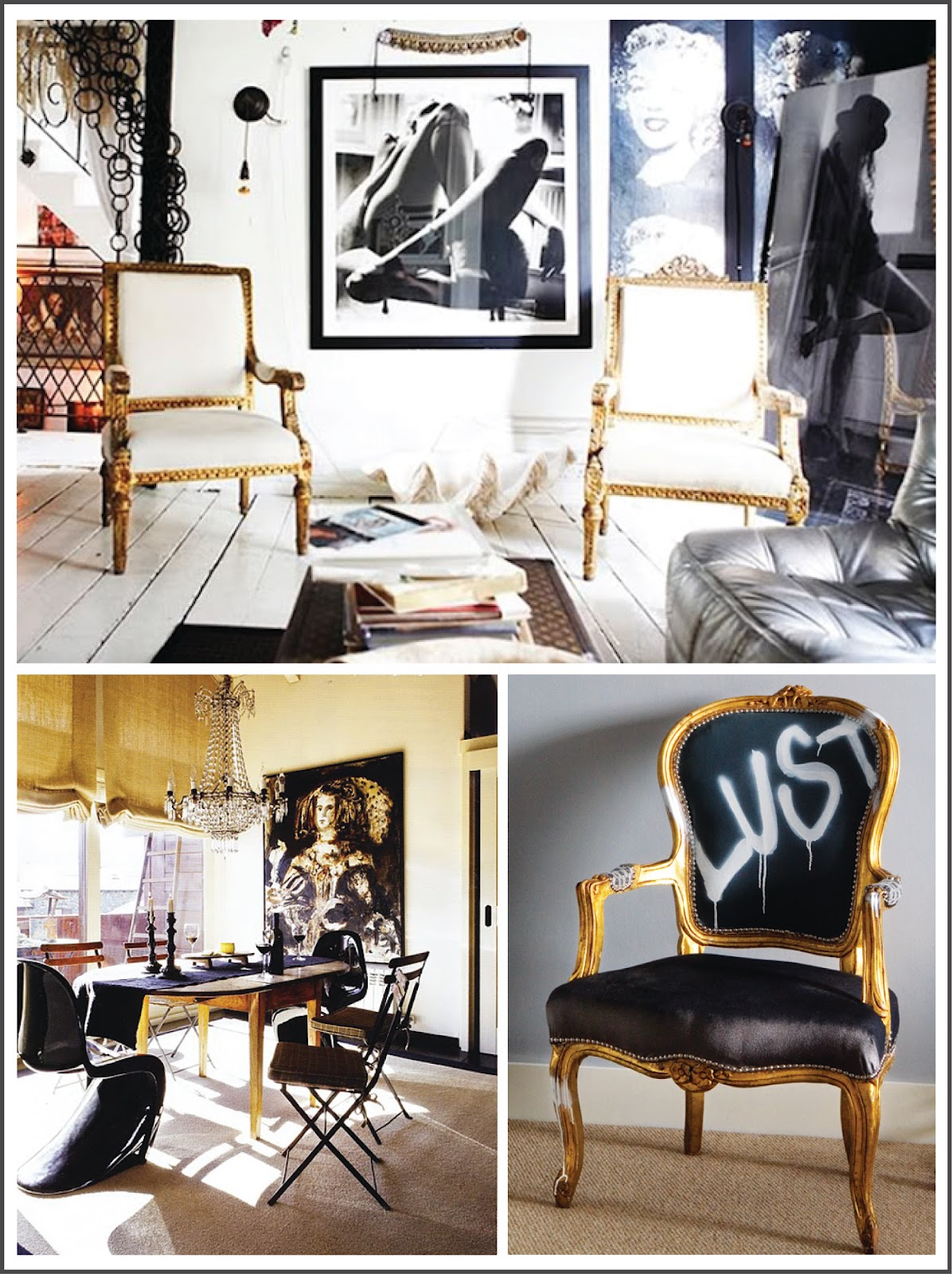 sara russell interiors: black & gold