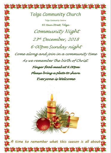 TCC Christmas Service
