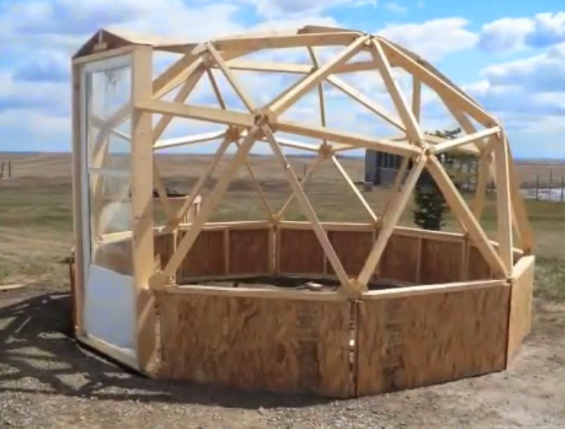 building a geodesic dome greenhouse - Dome Greenhouse Designs
