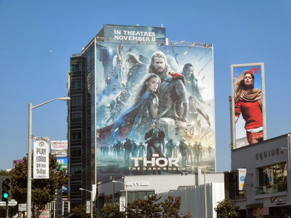 Giant Thor Dark World movie billboard