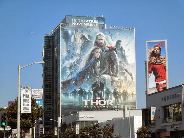 Giant Thor Dark World movie billboard
