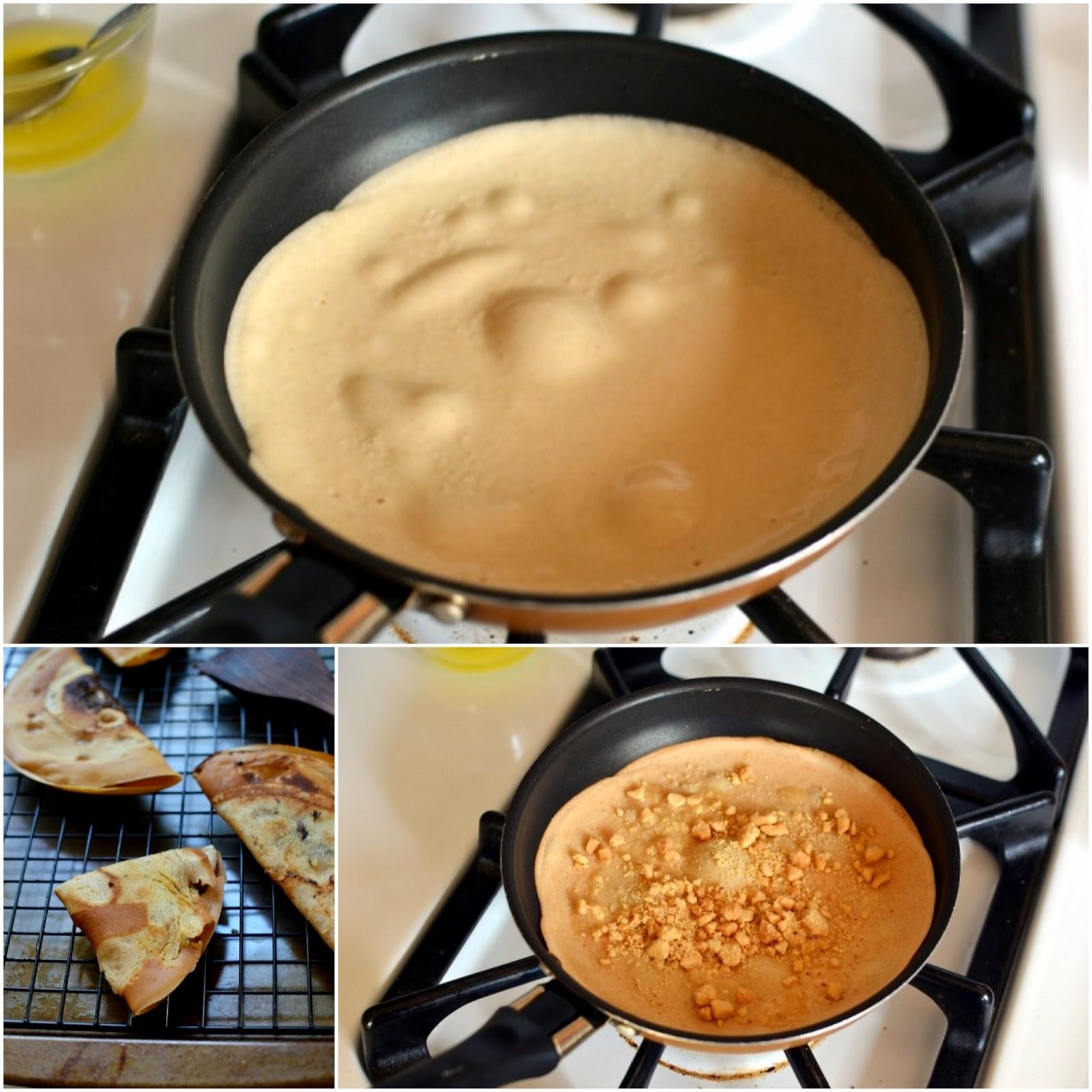 Making of Apam Balik (Malaysian Pancakes)