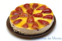 tarta fria de queso y fresones