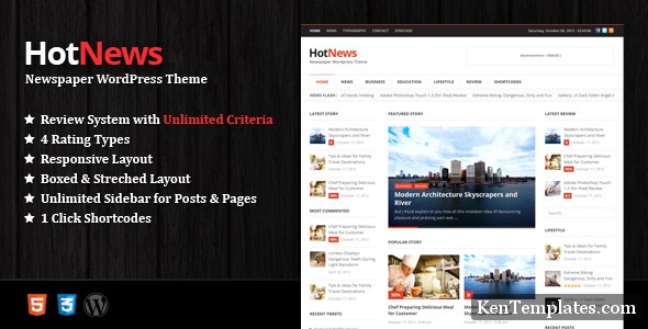 HotNews - Newspaper WordPress Theme V1.0.2