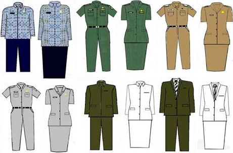 Hasil gambar untuk seragam pns guru