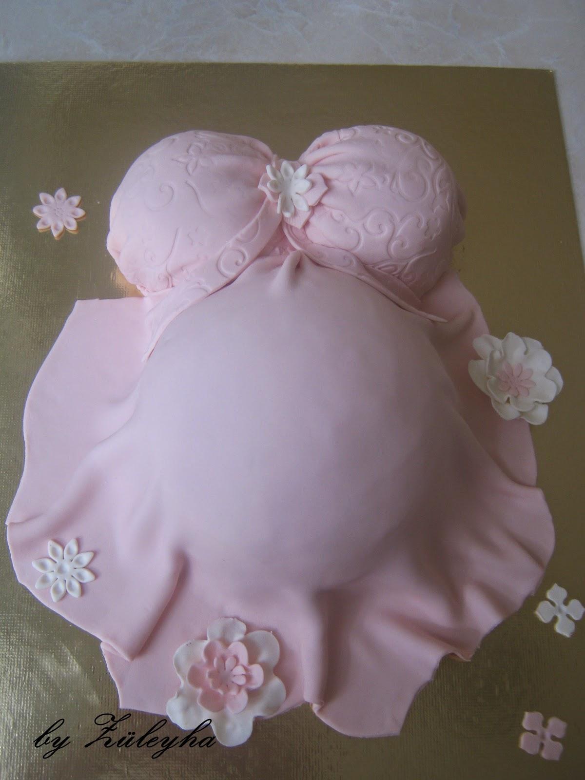 hamile pastası,baby shower pastası,pasta,şeker hamurlu pasta