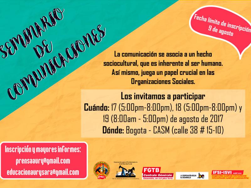 Seminario de Comunicaciones Bogotá D.C., 17, 18 y 19 de agosto de 2017
