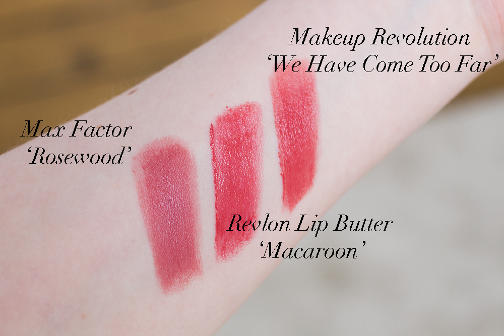 Top Three Drugstore Autumn Lipsticks Swatches