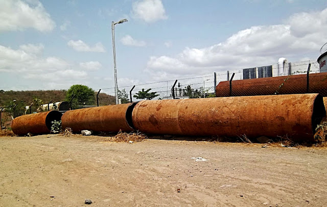 long unused water pipes