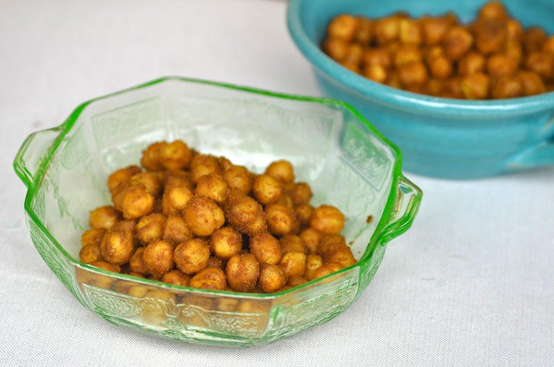 spiced roasted chickpeas 1 can rinsed chickpeas 3 tablespoons extra
