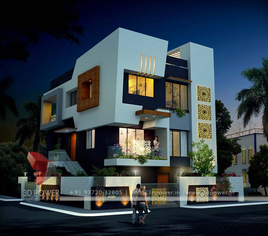 Stunningly beautiful modern homes for Exterior 3d design