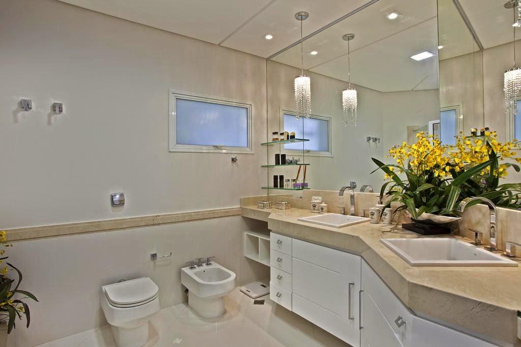 Banheiros claros branco e bege – veja modelos modernos e dicas!  Decor Salt -> Banheiros Decorados Na Cor Bege