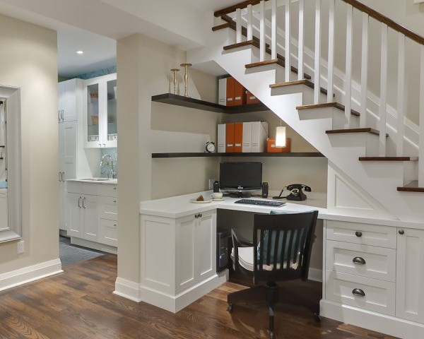 Custom Cupboards Under the Stair for Saving Space