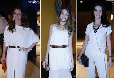 Giovanna Antonelli, Juliana Paiva e Lisandra Souto com muitos acessórios, em seus looks no show de Roberto Carlos. Inspiração para Reveillon 2013.
