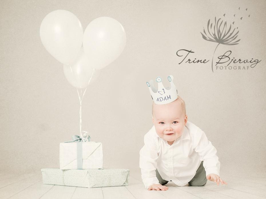 bursdagsbilder av 1 åring - barnefotograf Trine Bjervig i Tønsberg, vestfold