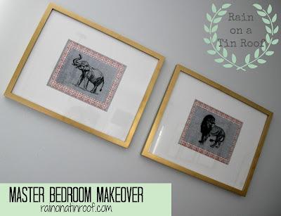Master Bedroom Makeover Reveal {rainonatinroof.com} #masterbedroom #makeover #reveal #DIY
