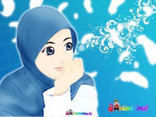 RENUNGAN \u0026 KISAH INSPIRATIF: Gambar Kartun Muslimah Cantik