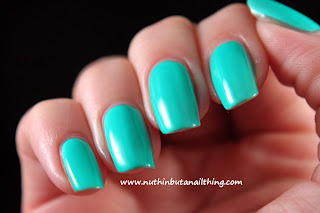 China Glaze Neon On The Shore Collection - Keeping it teal