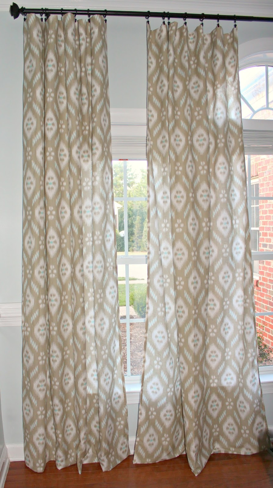 dining room ikat curtains
