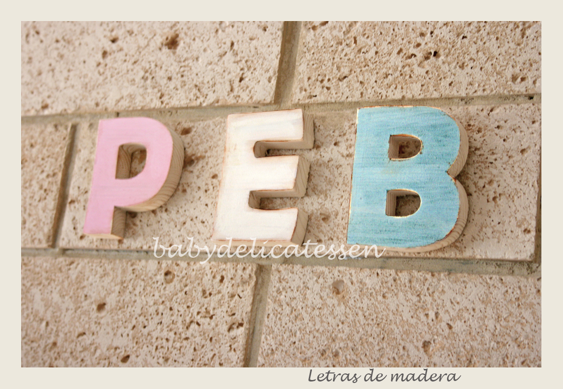 Baby delicatessen letras de madera tipos de letras - Letras en madera ...