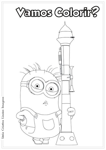 Minion Meu Malvado Favorito 2 desenho para colorir