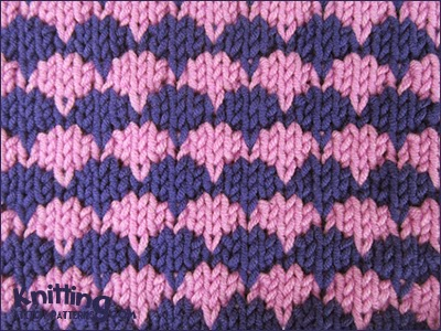 Knitting How To Cast On Stitches At The End Of A Row : Dip-Stitch Check Knitting Stitch Patterns