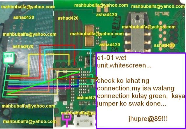 Awe Inspiring Nokia C1 01 White Screen Solution Gsmhosters Wiring Digital Resources Bemuashebarightsorg