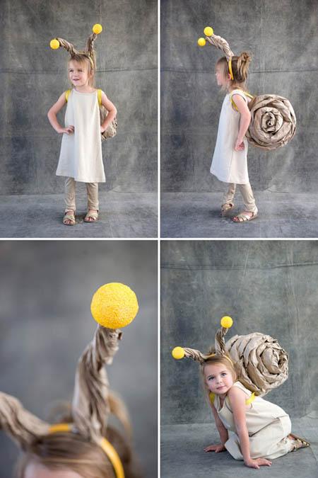 disfraz caracol niña