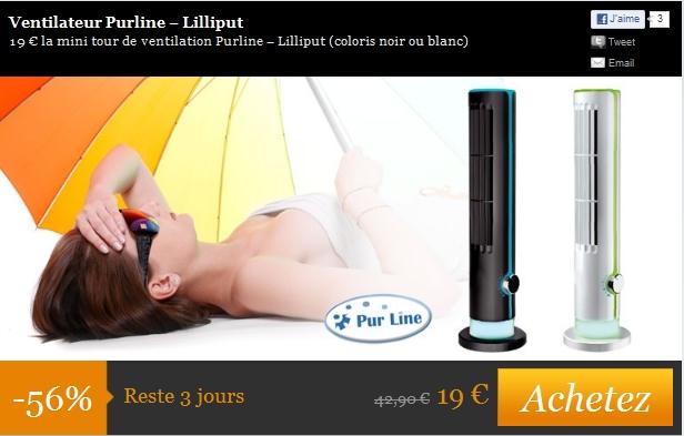 Ventilateur Purline 19€ au lieu de 42€90 ventilateur pas cher bon plan ventilateur