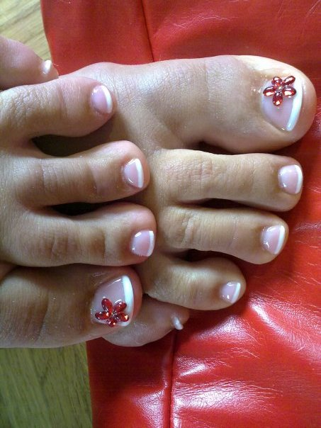 nail art simple design toenails
