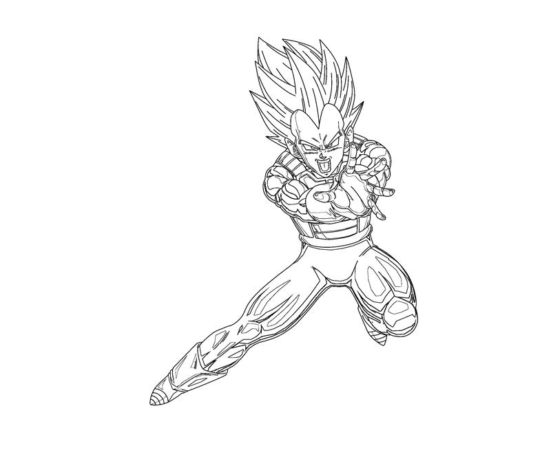 Vegeta 2 Coloring Crafty Teenager
