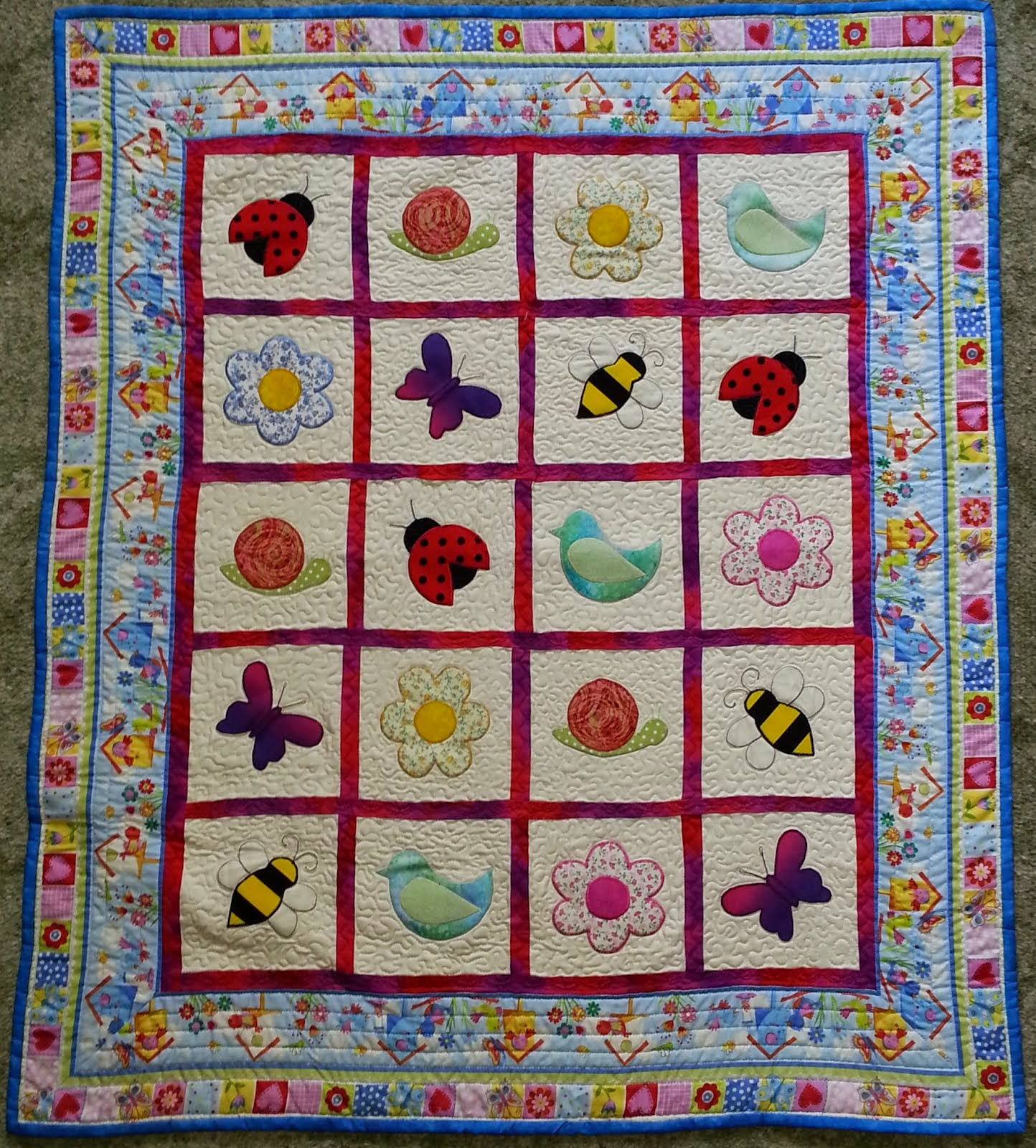 BIRDS & BEES PLAYMAT