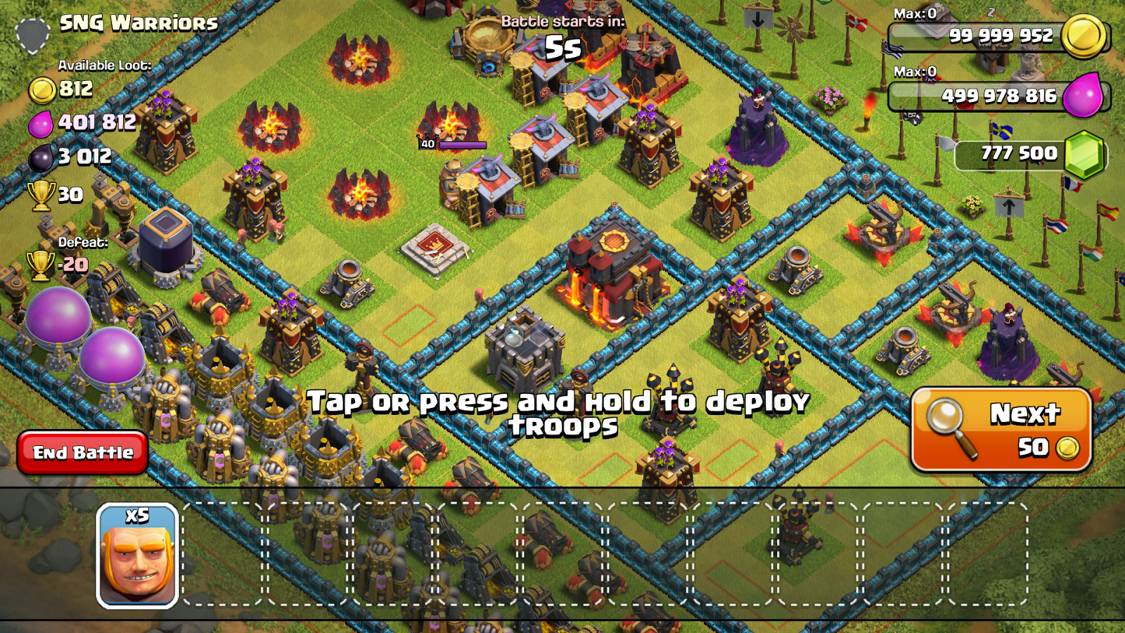 how to create a private clash of clans server