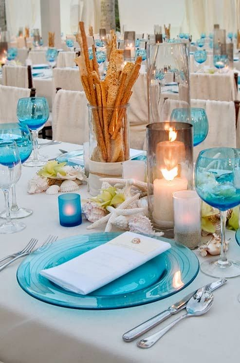 A bride s bff non floral beach wedding centerpiece ideas