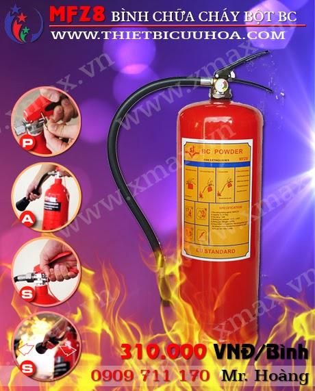 Bình cứu hỏa bột bc mfz8 8kg
