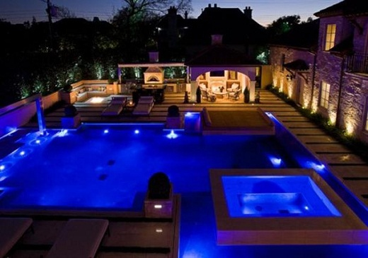 Romantic poolside design with amazing views