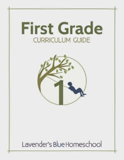 http://lavendersbluehomeschool.com/first-grade-curriculum/
