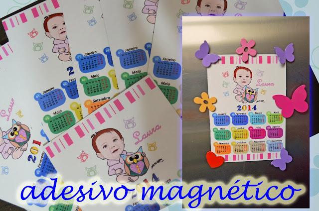 Adesivos magnéticos para geladeira com caricatura M2LOPES